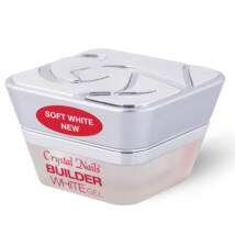 Crystal Nails Builder Soft White New - Fehér építő zselé - 15ml