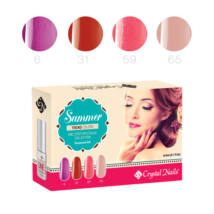 Trend Colors Summer one step CrystaLac készlet - 4x3ml