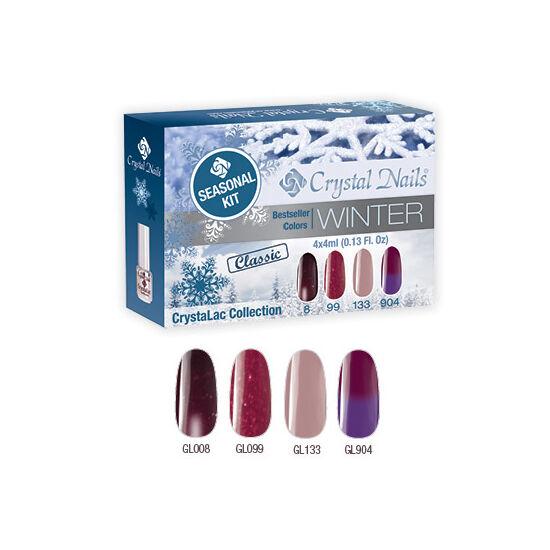 Bestseller Colors Winter klasszikus CrystaLac készlet - 4x4ml Seasonal kit