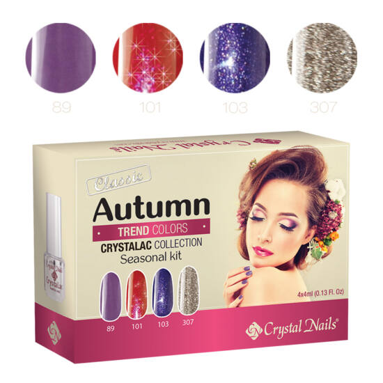 Trend Colors Autumn 3 step (klasszikus) CrystaLac készlet - 4x4ml