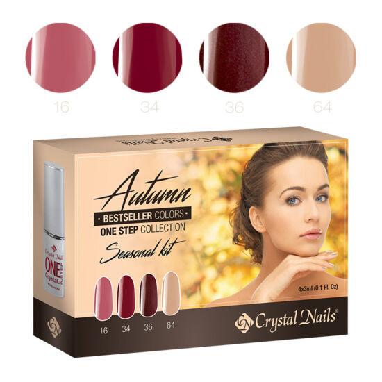 Bestseller Colors Autumn one step CrystaLac készlet - 4x3ml