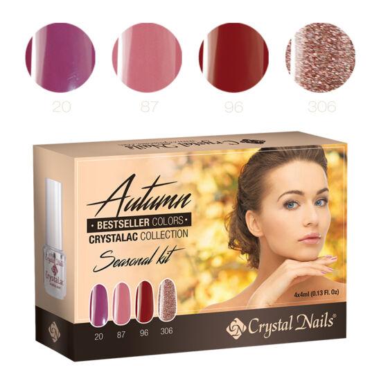 Bestseller Colors Autumn 3 step (klasszikus) CrystaLac készlet - 4x4ml