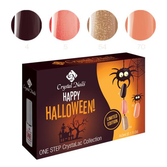 Happy Halloween one step CrystaLac készlet - 4x3ml