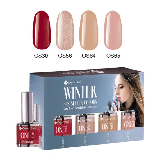 Bestseller Colors Winter one step CrystaLac készlet - 4x4ml