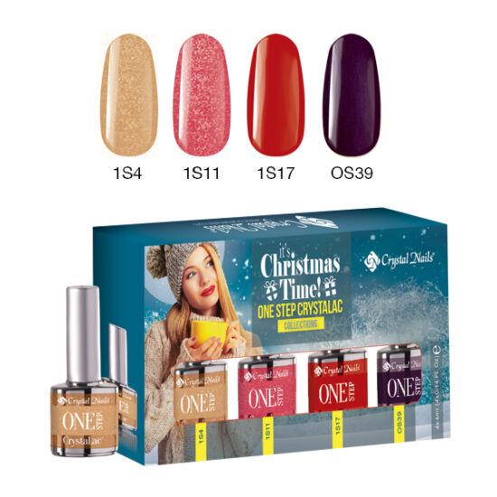 It's Christmas Time! one step CrystaLac készlet - 4x4ml
