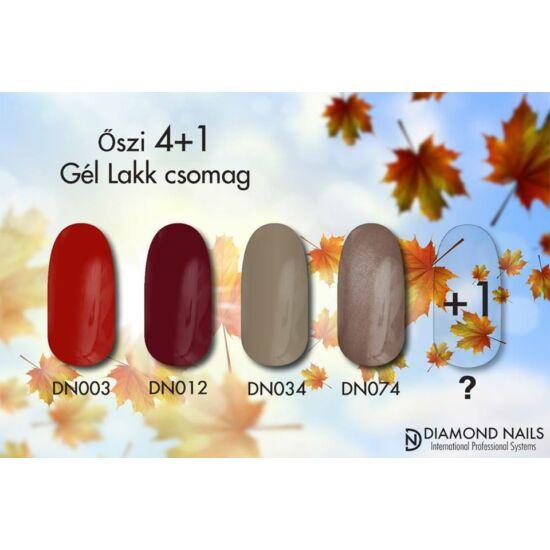 Diamond Nails gél lakk őszi szett 4+1