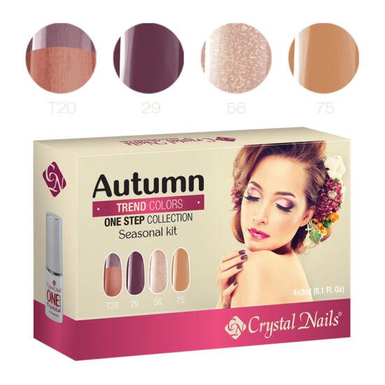 Trend Colors Autumn one step CrystaLac készlet - 4x3ml