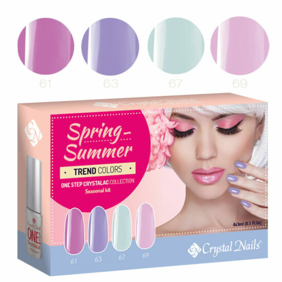 Trend Colors Spring-Summer one step CrystaLac készlet - 4x3ml