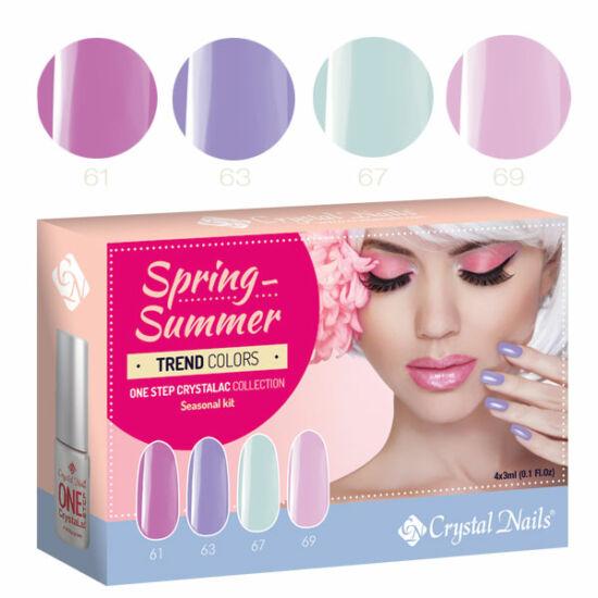 Trend Colors Spring-Summer one step CrystaLac készlet - 4x3ml