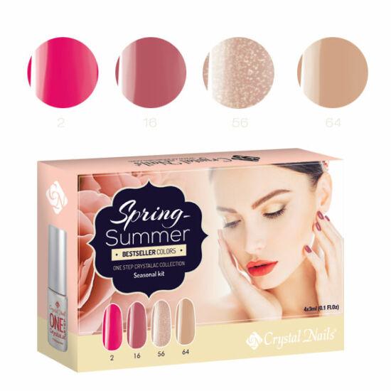 Bestseller Colors Spring-Summer one step CrystaLac készlet - 4x3ml