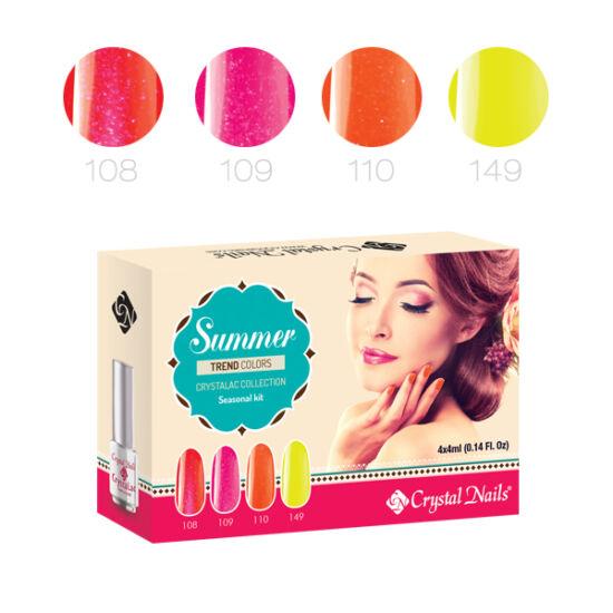 Trend Colors Summer 3 step (klasszikus) CrystaLac készlet - 4x4ml