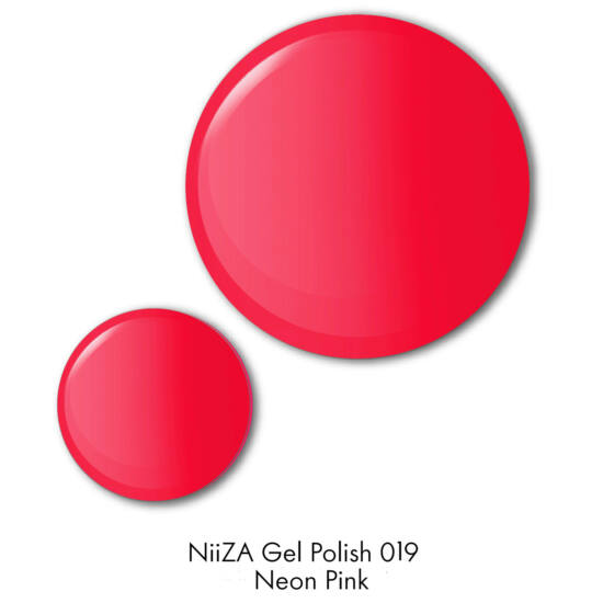 NiiZA Gel Polish 7ml - 019 NEON pink