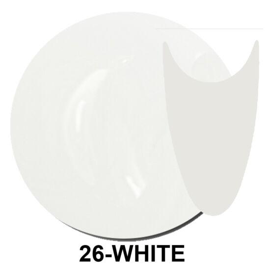 UV Polish Gel - hybrid gél lakk 026. - french white 15ml
