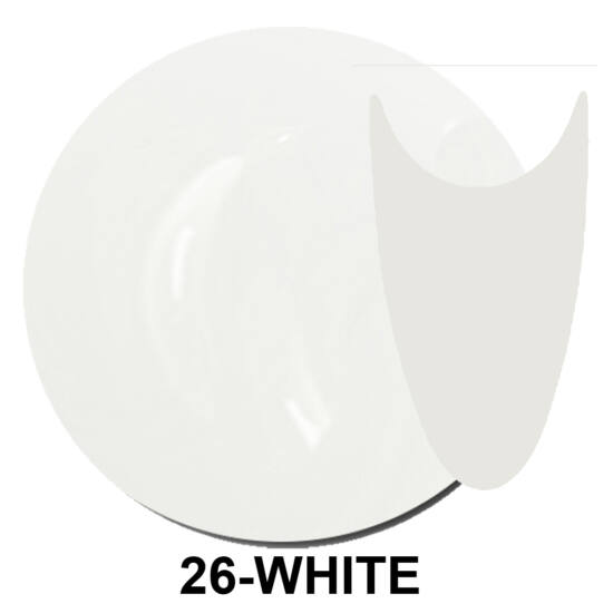 UV Polish Gel - hybrid gél lakk 026. - french white