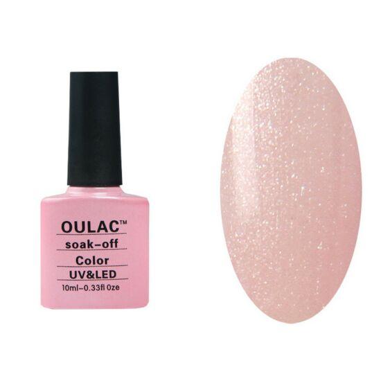 Oulac gél lakk 46 - gyöngyház effect pinky - áttetsző
