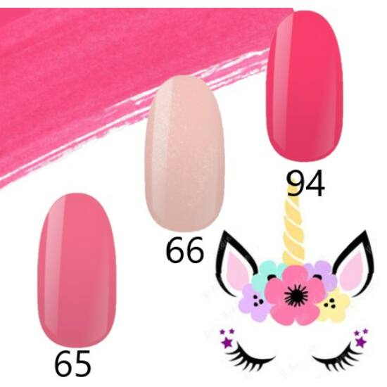 NiiZA Gel Polish Pink TRIÓ 65,66,94 (3x4ml)