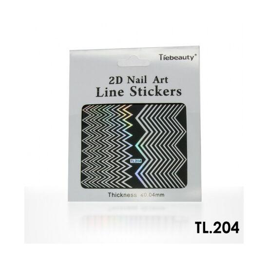 Körömdíszítő sablon TL204