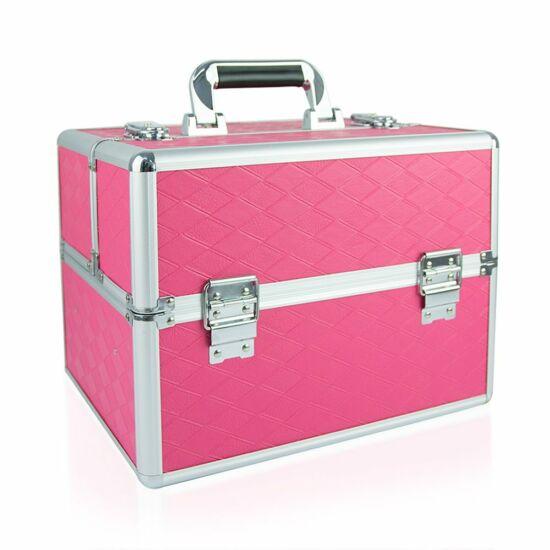 Műkörmös táska #04 Pink rombusz