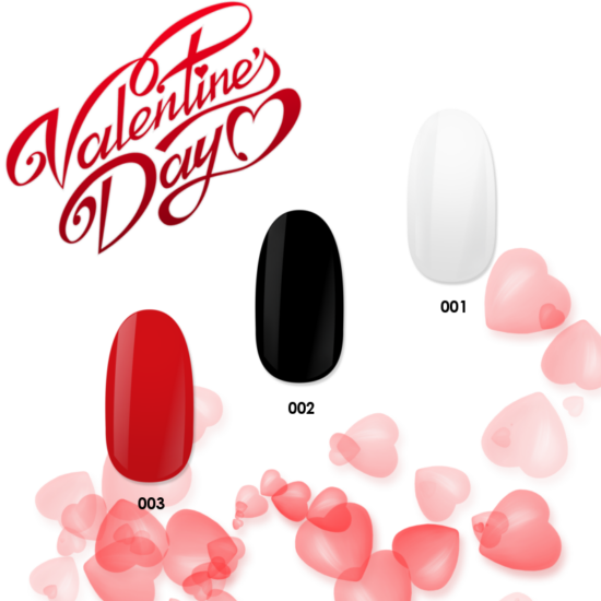 NiiZA Gel Polish Valentine's Day TRIÓ 1,2,3 (3x4ml)
