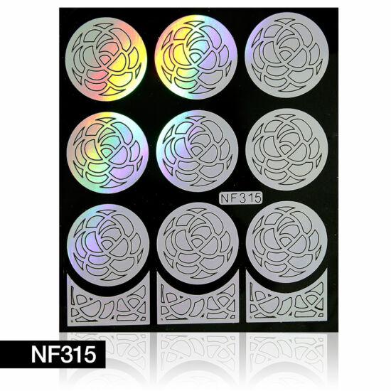Körömdíszítő sablon NF315 ezüst