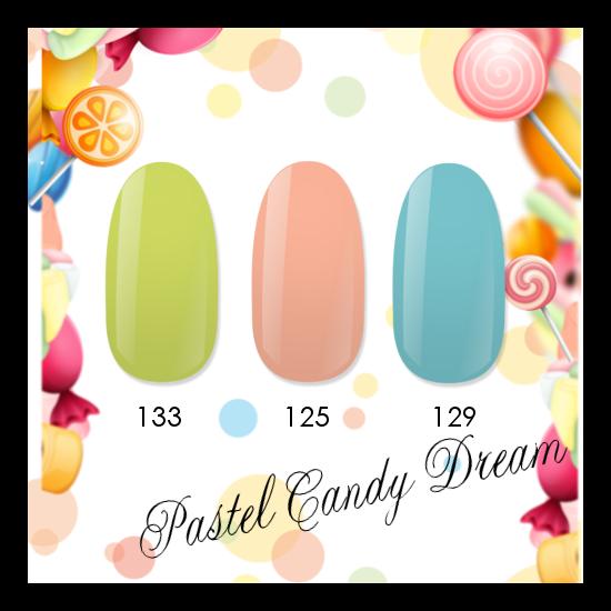 NiiZA Gel Polish Pastel Candy Dream TRIÓ 125, 129, 133 (3x4ml)