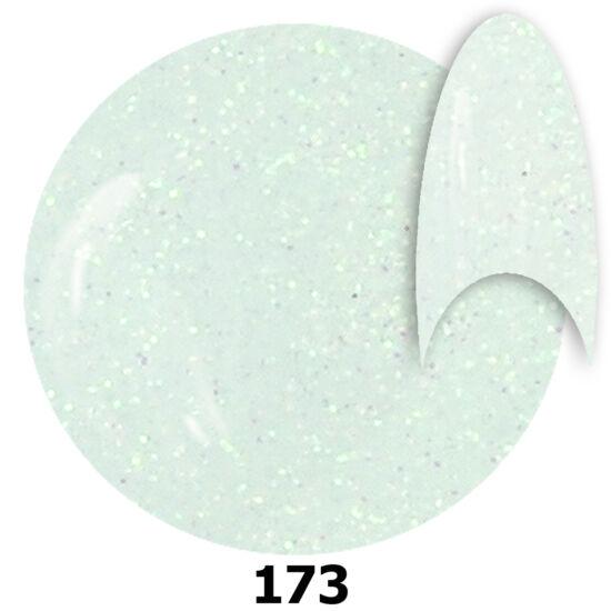 INS gél lakk 173. fehér glitter