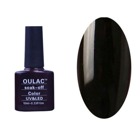 Oulac gél lakk 18 - fényben csillámló fekete - fedő