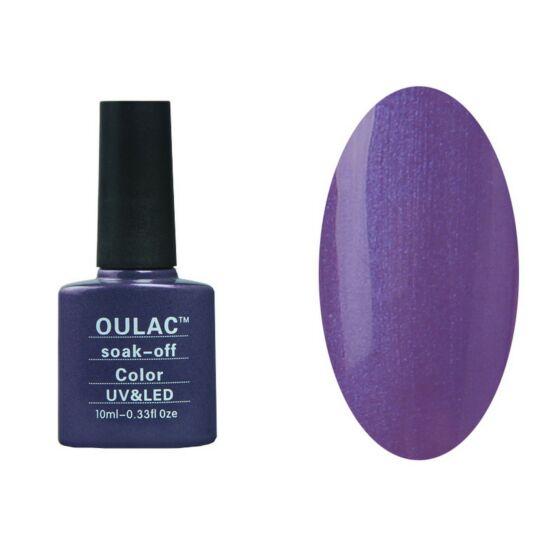 Oulac gél lakk 30 - gyöngyház lila irisz - fedő
