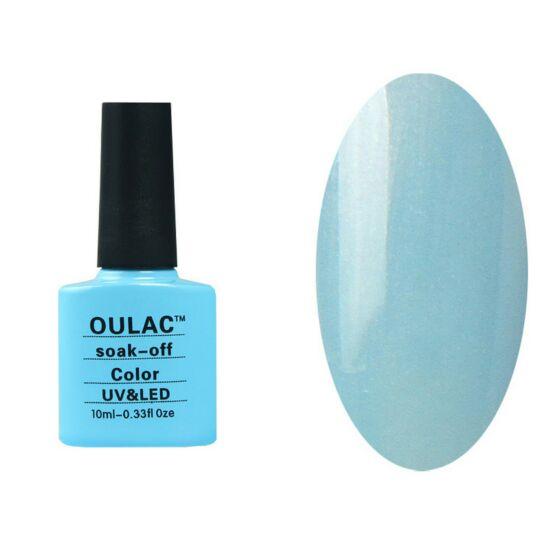 Oulac gél lakk 49 - pearl kék orchidea - 3 rétegben fedő