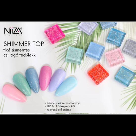 NiiZA Shimmer top fedőlakk #1 - 4ml